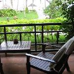 View from the porch of our private villa