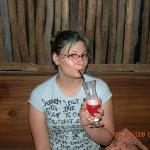 Me drinking a Singapore Sling
