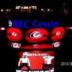March 11, 2010  Raleigh NC...hockey game..Hurricanes vs Penguins...Canes won in overtime!