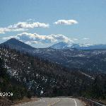 Pikes peak from road to the ranch