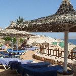 Beach front terrace