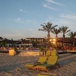 Resort from beach