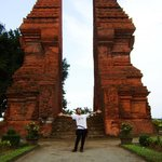 This is the gate of Majapahit, this gate is for entering the city of Majapahit in the past... it