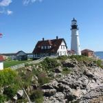 Portland Head Light also in Cape Elizabeth. Maine's first & most famous lighthouse. Built in 179