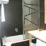 Roomy bathrooms