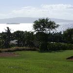 Gorgeous view of Molokini crater from a tee box.
