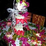 Rum Wedding Cake & Flowers