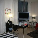 Good quality TV & room had 2 air conditioners