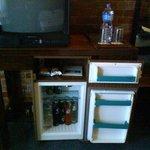 TV and fridge