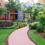 immaculate resort grounds