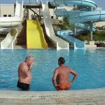 water slides at the hotel