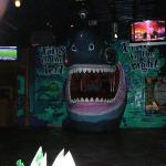 the Shark at Margarita Ville...which just happened to be the DJ booth...pretty cool place