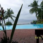 view of the infinity pool