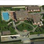 Vista dall'alto di Villa Poggio Chiaro