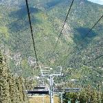 Taking the Summer Chair Lift to the top!