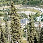 View of the condo from the top of the mountain.