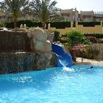 Small pool with slide