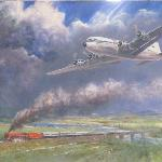 Train and plane - painting