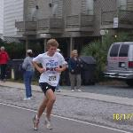 Running in the 5K Race at the Oyster Festival