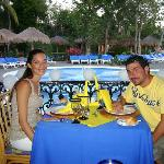 Honeymoon meal organised for us at the steakhouse restaurant