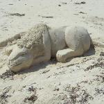 Joseph on the beach makes these brilliant sand sculptures