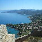 Looking East from La Rocca, Cefalu. Etna in the far distance