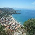 Westwards from La Rocca over Cefalu's beach