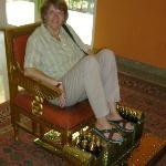 Orientalischer Schuhputzer im Hotel
