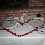Anniversary table decor