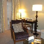 sitting room of suite