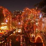 different view of the RiverWalk during the holidays