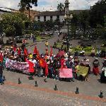 Plaza de Independencia Protest