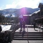 Heavenly resort, ready to get on the gondola.