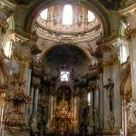 Interior of the church of st. Nicholas, so-call the most beautiful Baroque church