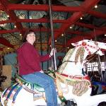 Riding the carousel in Central Park, NY 2005