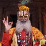 Kathmandu, Nepal, 'Holy' man in Durbur Sq.