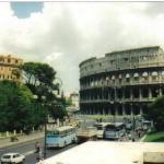 The Colosseum and modern Rome