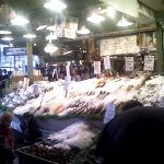 Throwing of fish in Pike place market, very cool to watch.  Lots of energy there.