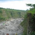 Lahar from Gunung Merapi near Kaliurang, October 2009