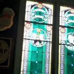 stained glass in the pub