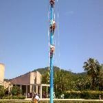 Mexico, Veracruz. Voladores de Papantla  en el Tajin 2