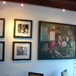 Artwork in main dining room