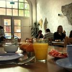 Der geräumige Frühstücksraum