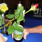 My Rose and a beer