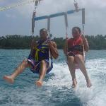 parasailing with my GF