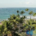 view form our cabanna corener room the marriott resort.