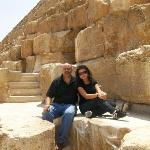 sitting on the pyramids