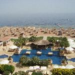 view over main pool & beach
