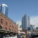 Outside Pike Place Market, Downtown Seattle, Washington.