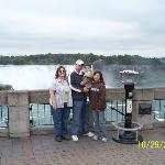 Niagra Falls, Canada early this Fall. Debbie with son Matthew, holding his son Aiden, Crystal